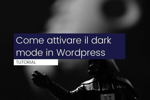come attivare il dark mode in wordpress